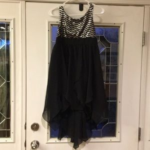New Sequin Black Silver Holiday Dress 14